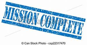 Stock Illustrations of mission complete blue grungy stamp ...