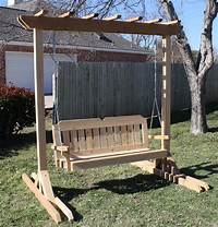 free standing swing Dream For Free Standing Porch Swing — Bistrodre Porch and ...