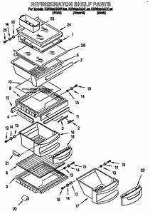 Refrigerator Shelf Parts Diagram  U0026 Parts List For Model