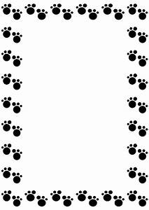 Dog Paw Gallery For Clip Art Dog Borders Image ...