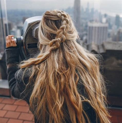 braids inspiration tumblr pinterest hairstyle messy hippie
