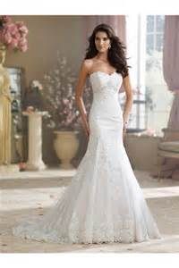 strapless sweetheart wedding dresses charming mermaid strapless sweetheart lace applique wedding dress with crystals