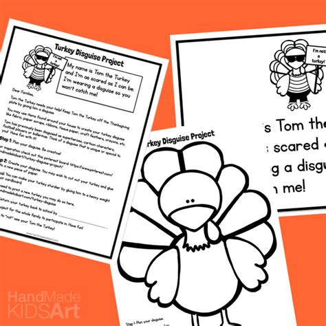 turkey trouble disguise template everything you need for the turkey disguise project kids
