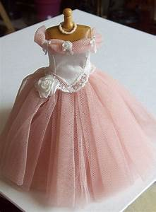 Pink net ball gown on mannequin 1/12th scale dollhouse ...