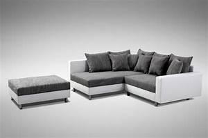 Couch Hocker Als Tisch : modernes sofa couch ecksofa eckcouch in weiss eckcouch mit hocker minsk l polsterm bel sofa ~ Bigdaddyawards.com Haus und Dekorationen