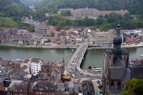 Dinant village Belgium stock image. Image of cliff, river ...
