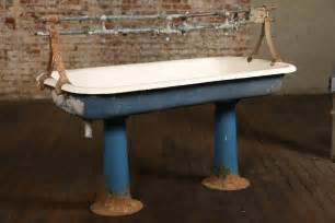 Sherle Wagner Faucet by Vintage Industrial Double Pedestal Sink At 1stdibs