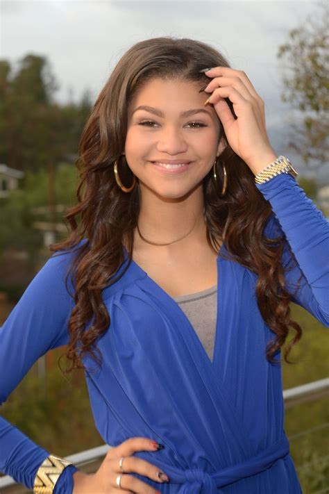 ZENDAYA COLEMAN in a Blue Jumpsuit at Her House in Los ...