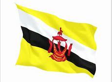 Fluttering flag Illustration of flag of Brunei