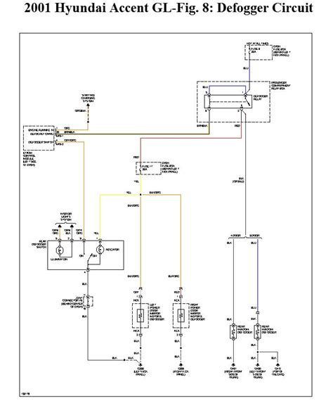 2001 hyundai accent defogger wiring diagram wiring diagrams free gmaili net
