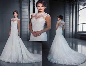 hot selling sexy illusion jewel neckline wedding dresses With jewel neckline wedding dress