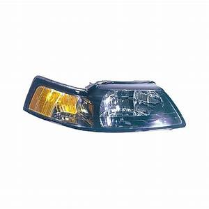 Replace® - Ford Mustang 2001 Passenger Side Replacement Headlight Lens and Housing