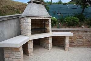 Barbecue En Dur : cuisines d 39 t en pierres barbecues argentins ~ Melissatoandfro.com Idées de Décoration