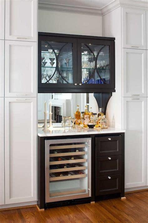 Bar Built In by Mirror Backsplash Contemporary Kitchen Terracotta Studio