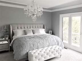 glamorous grey bedroom decor grey tufted headboard