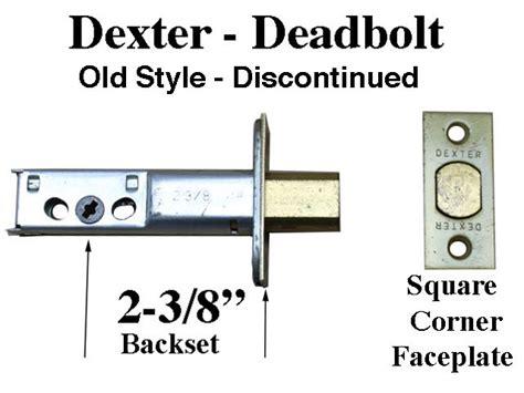 dexter master dead bolt latch entry door   backset