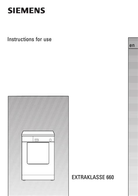 seche linge en anglais siemens extraklasse ta wt66080 mode d emploi notice d utilisation manuel utilisateur