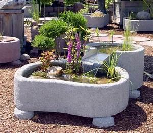 miniteich kaskade granitwerkstein springbrunnen brunnen With französischer balkon mit springbrunnen garten stein