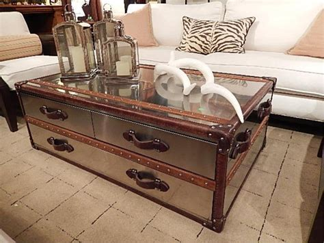 Shop for storage trunk coffee table online at target. POLISHED METAL CLAD STEAMER TRUNK STYLE COFFEE TABLE,