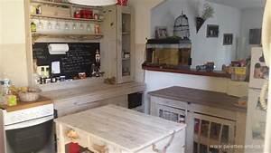 Acheter Meuble En Palette Bois : comment fabriquer un lot central de cuisine en palettes ~ Premium-room.com Idées de Décoration