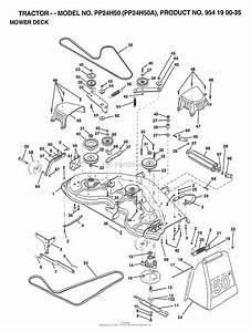 Ayp  Electrolux Pp24h50a  1999  Parts Diagram For Mower Deck