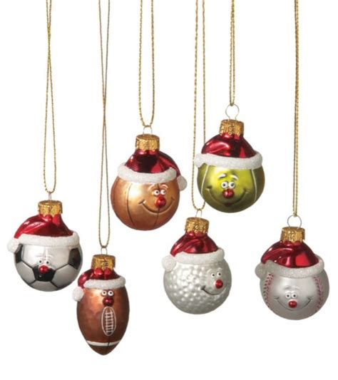 sports ball christmas ornaments set of 6 midwest cbk
