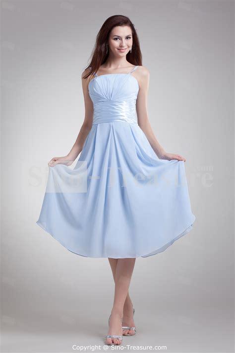 light blue tea length dress light sky blue bridesmaid dresses ocodea bridesmaid