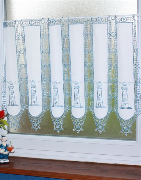 rideau theme marin au metre avec phare