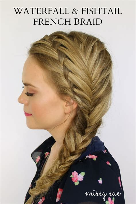 stunning waterfall french braids  girls maedchen
