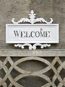 Decorative Welcome Signs