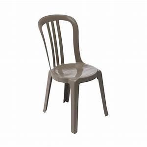 Chaise Capitonnée Taupe : chaise de jardin miami bistrot taupe 49150181 grosfillex home boulevard ~ Teatrodelosmanantiales.com Idées de Décoration