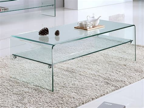 vente table cuisine table basse stileos plateau verre trempé courbé