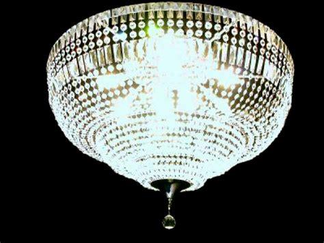 Riesen Kristall Deckenkronleuchter Mit Rechteckigem Blei