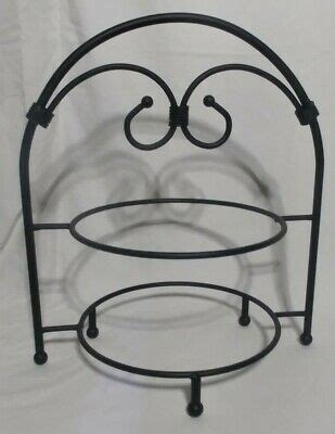 wrought iron pie plate  tiered serving stand black ebay