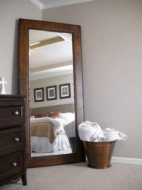 floor mirror in corner wall leaning mirror foter