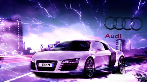 Audi Backgrounds by Audi R8 Wallpaper With Lightning By Ekan94 On Deviantart