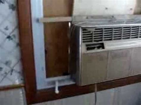 crank  window air conditioner install youtube