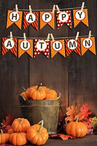 Happy Autumn Bunting Banner - How to Nest for Less™