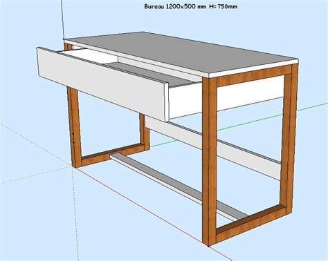 fabriquer un bureau fabriquer bureau pieds de bureau et stabilité