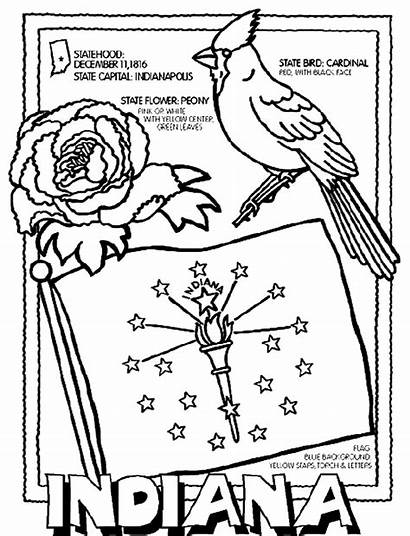 Coloring Pages Crayola States Indiana State Flag