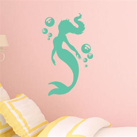 bubbles mermaid wall quotes� wall art decal wallquotescom