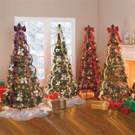 pre decorated christmas trees ideas
