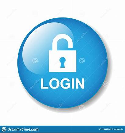 Login Icon Button Background Illustration Secure Isolated