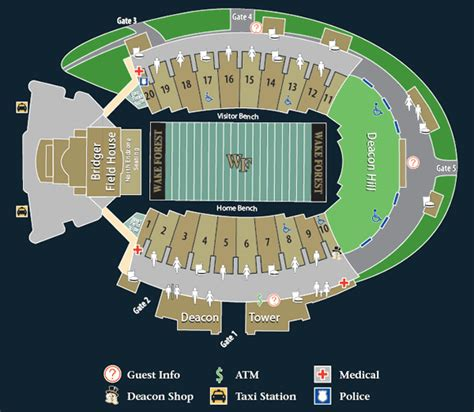 wake forest demon deacons  college football schedule