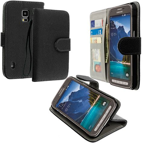Maybe you would like to learn more about one of these? Black Leather Wallet Pouch Case Cover with Slots for Samsung Galaxy S5 Active :: CellPhoneCases.com