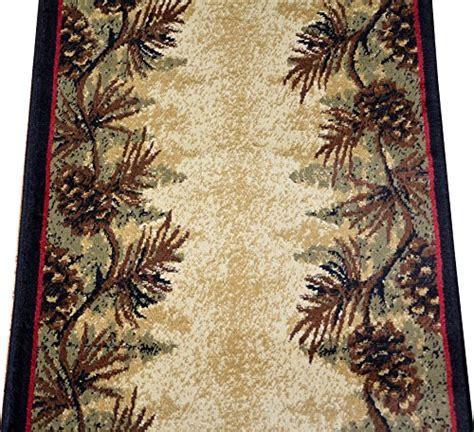 Dean Mt. Le Conte Pine Cone Lodge Cabin Carpet Runner Rug