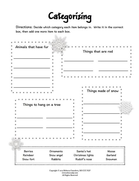 speech and language worksheets for preschoolers