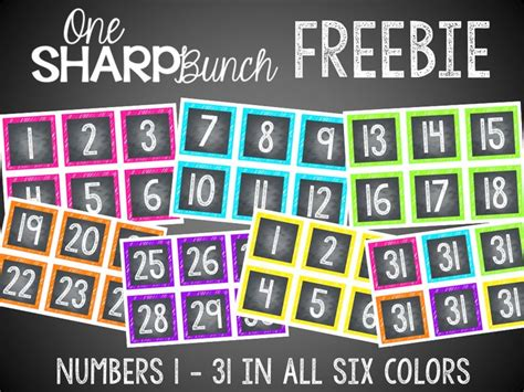 chalk calendar numbers clipart   cliparts