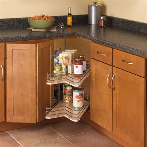 kitchen cabinets lazy susan knape vogt 30 in x 28 88 in x 28 in kidney shaped 6189