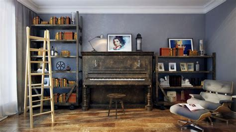 This music decorated room in the potter barn for teens has a really cool and smart appearance. 20 Cozy Music Room Designs That Redefine Styles